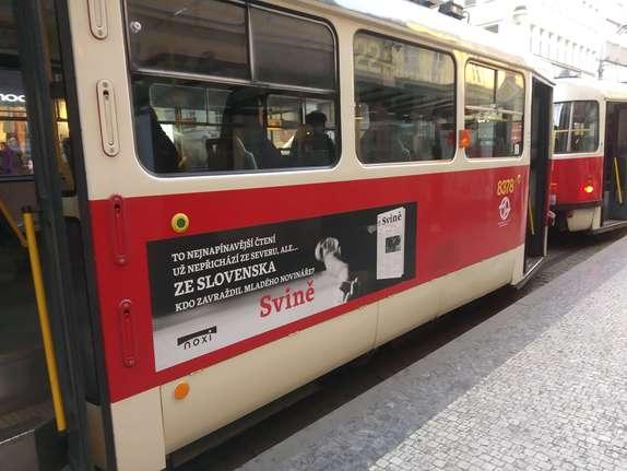 QS folie na tramvajích, autobusech, trolejbusech